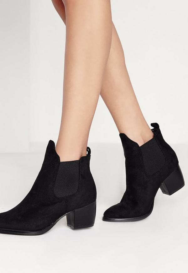 Low Heel Chelsea Boots Black Missguided