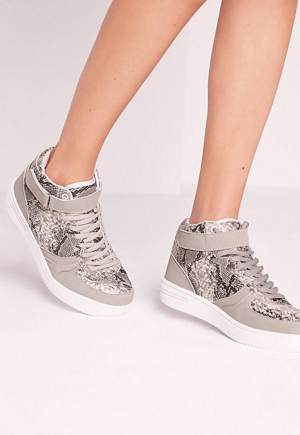 Croc Hi Tops Snake Grey