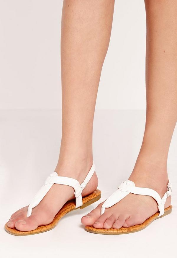 Ankle Strap Sandal White