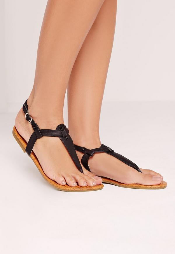 Ankle Strap Sandal Black