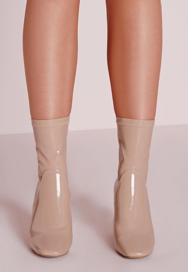 Nude white booties — photo 12