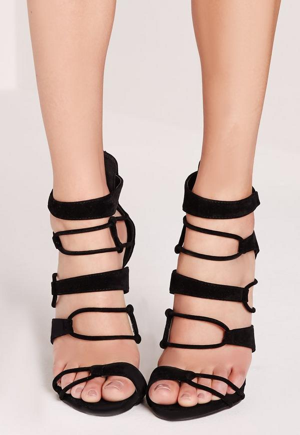 Strap Detail Platform Barely Theres Black