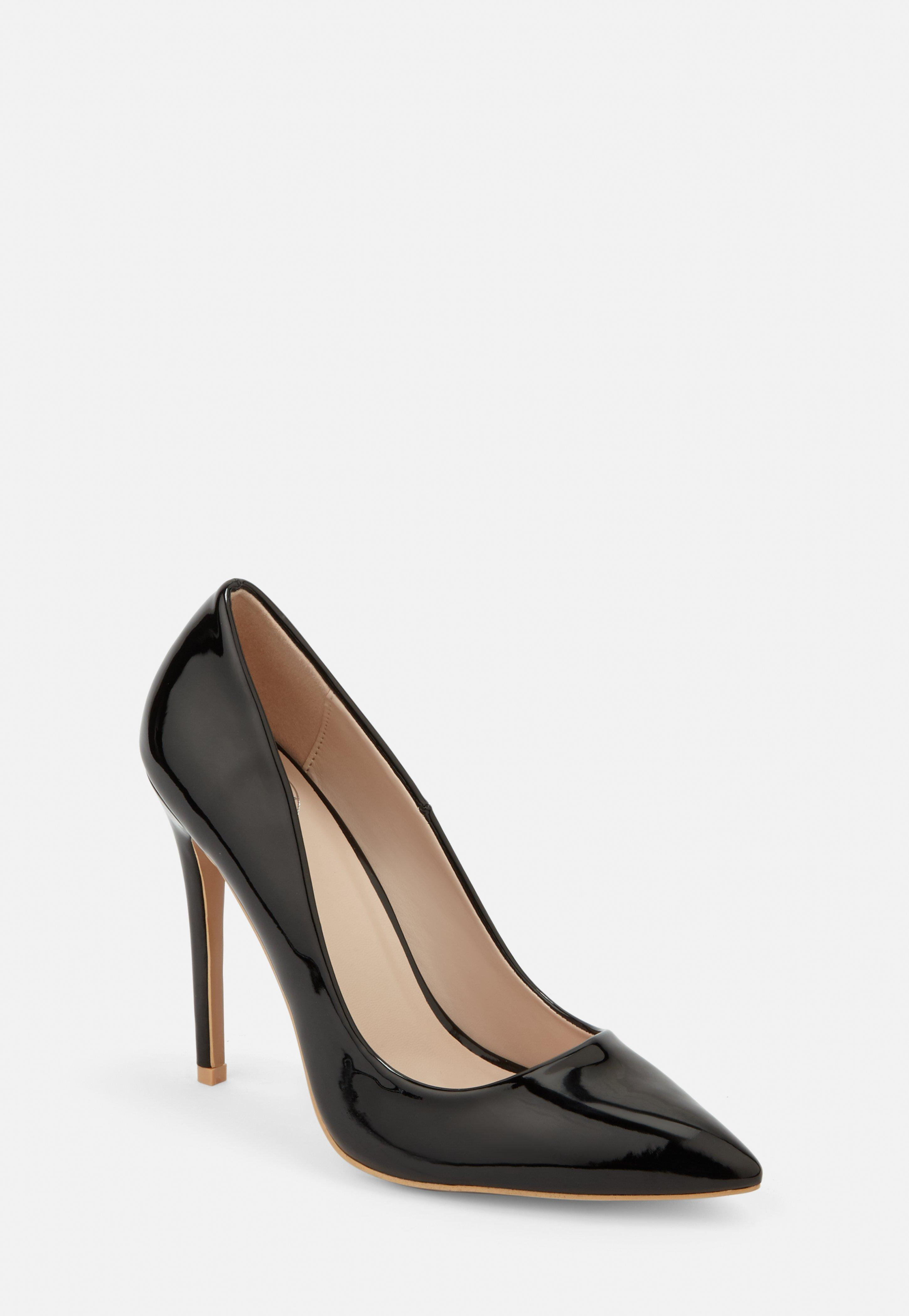 5d6686dae7133 Black Patent Wide Fit Pumps | Missguided