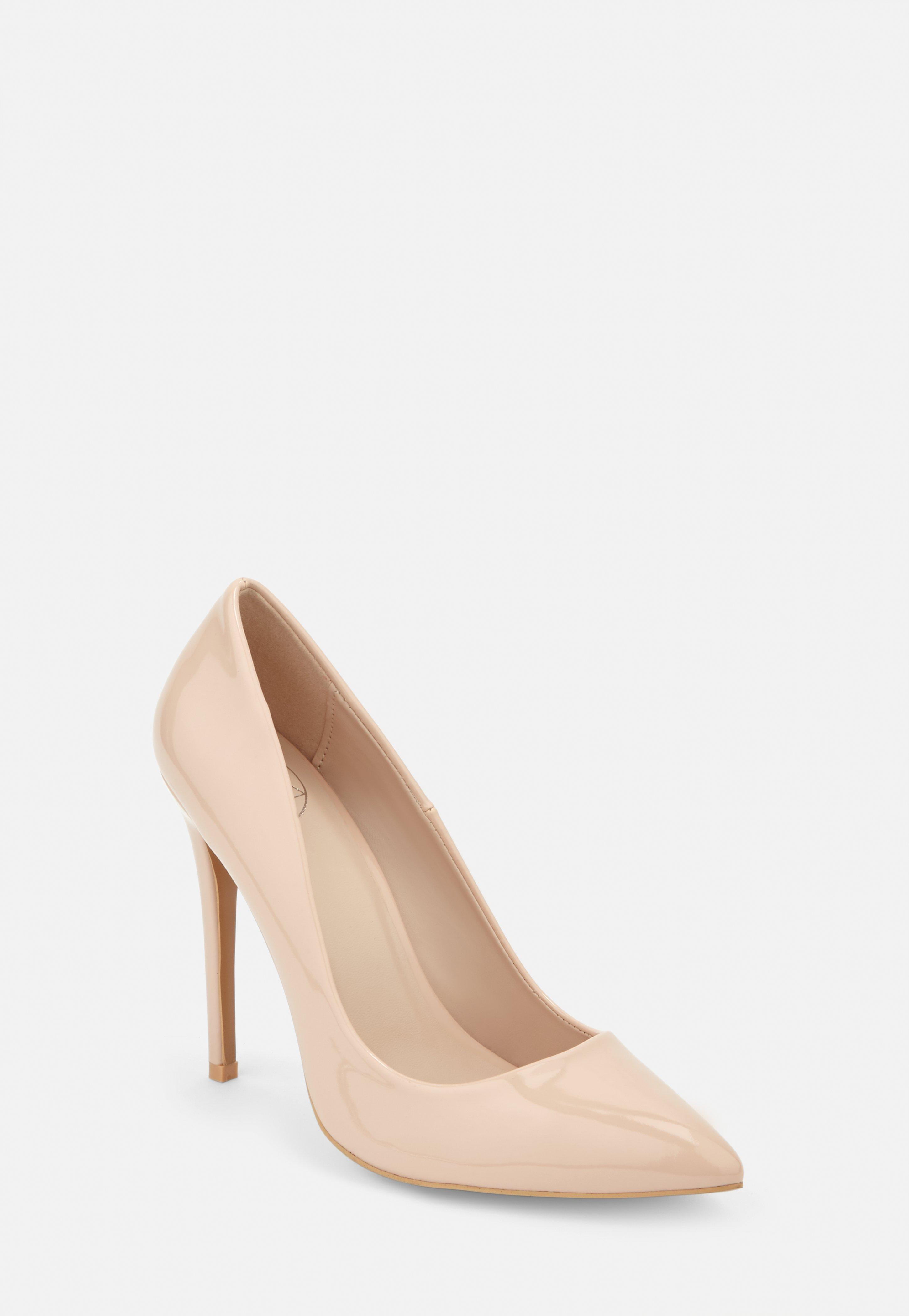 877a492db61 Nude Patent Wide Fit Court Heels