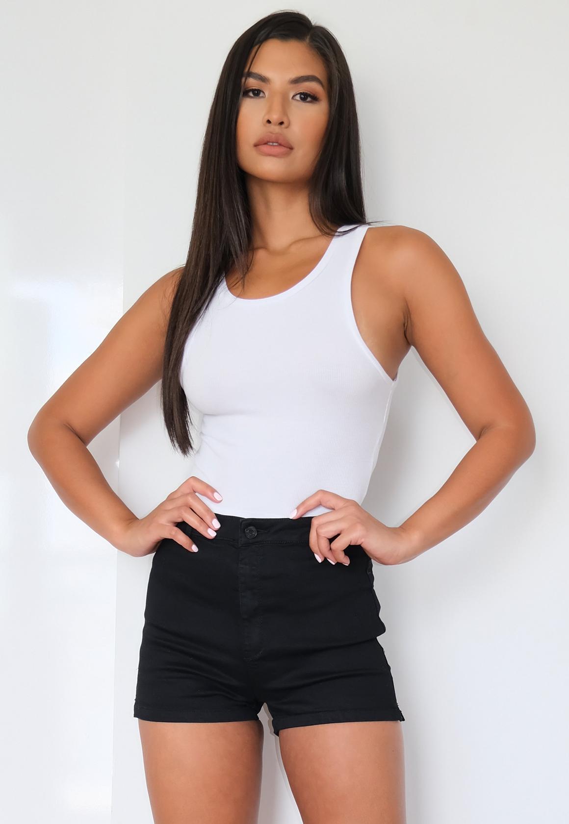 high waisted denim shorts black hardon clothes