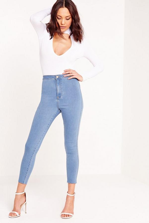Vice Cropped Skinny Jean Vintage Stonewash