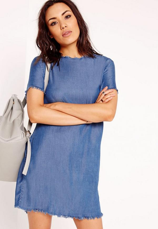 Tencel T-Shirt Dress Indigo Blue