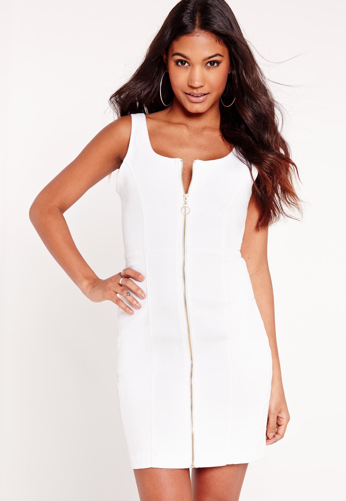 Combinar vestido blanco ajustado