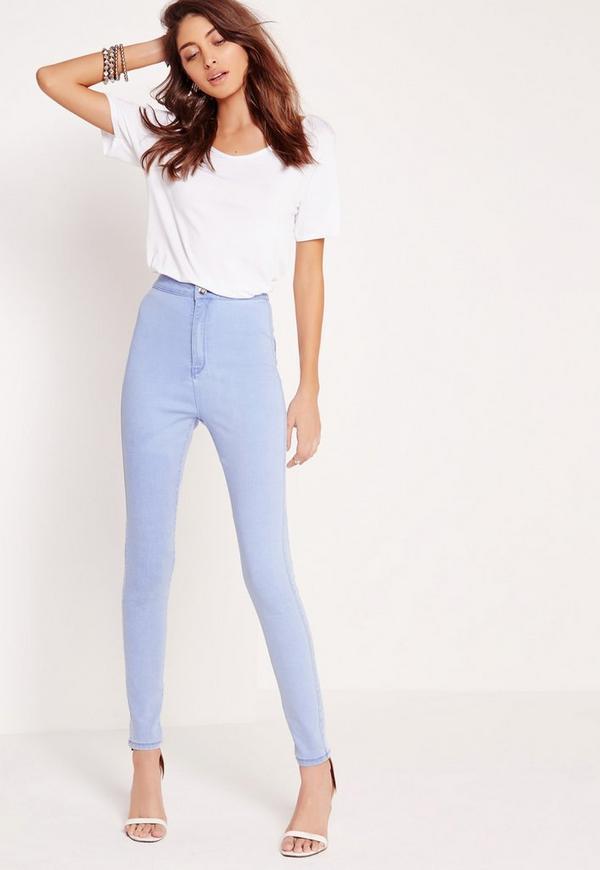 Vice High Waisted Skinny Jeans Blue