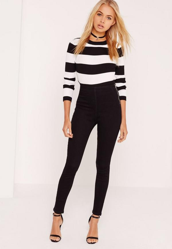 Lawless High Waisted Jeggings Black