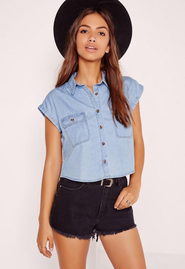 Boxy Shirt Mid Blue