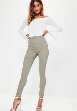 Vice High Waisted Skinny Jeans Sage