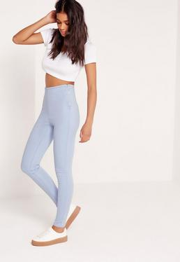 Jegging bleu clair taille haute Lawless