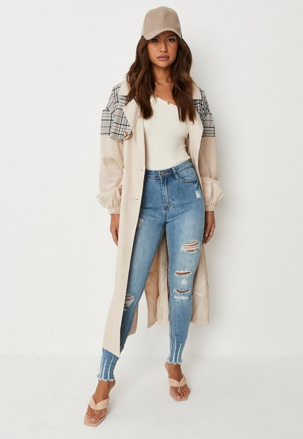 Missguided - Authentic Rip Skinny Wash - 1