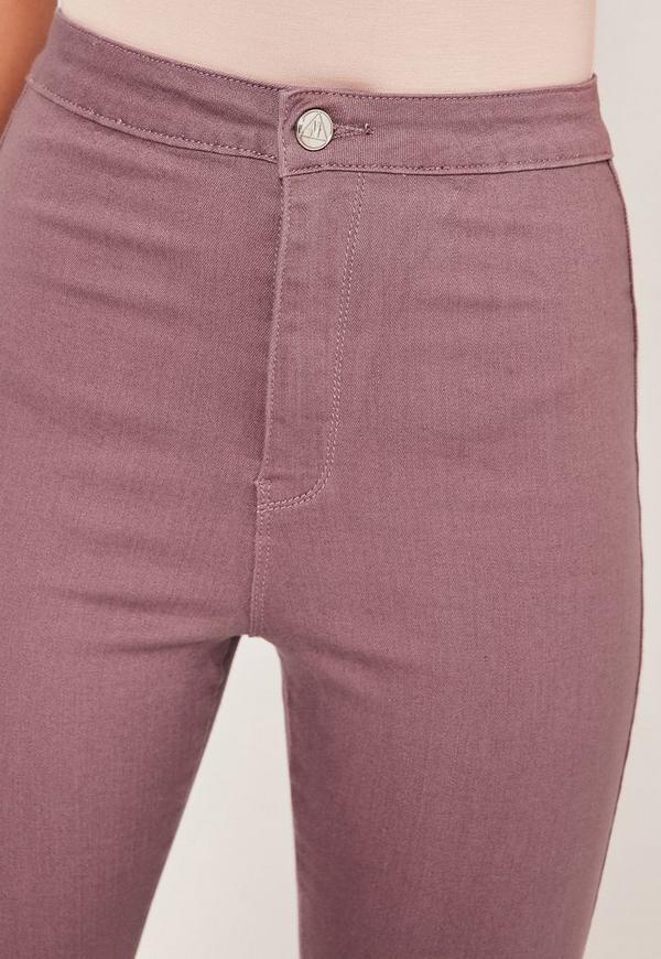 Vice Highwaisted Skinny Jeans Purple | Missguided