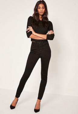 jeans blaue schwarze wei e jeans f r damen. Black Bedroom Furniture Sets. Home Design Ideas
