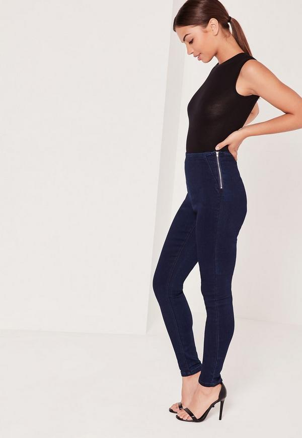 Lawless High Waisted Jeggings Blue
