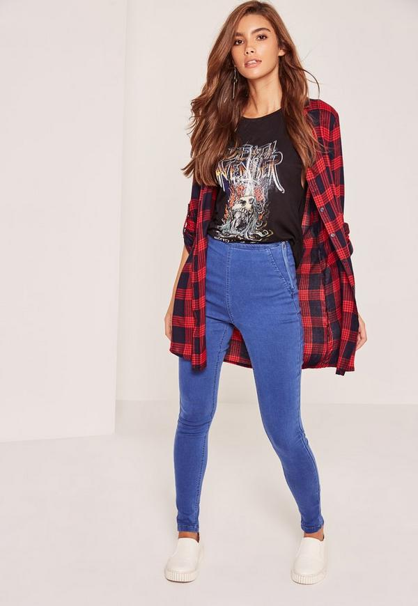 Blue Lawless High Waisted Jeggings