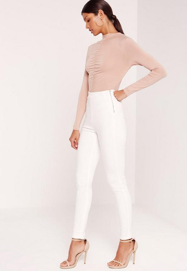 Lawless High Waisted Jeggings White