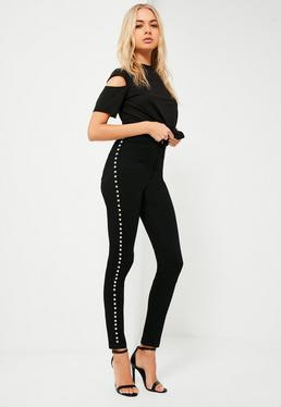 Black Vice High Rise Studded Skinny Jeans