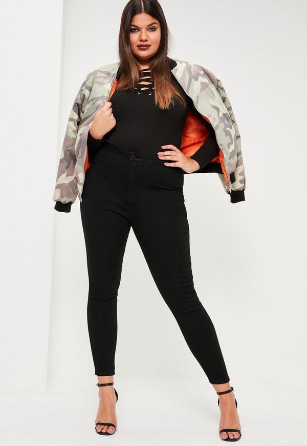 Plus Size Vice Black High Waist Jeans