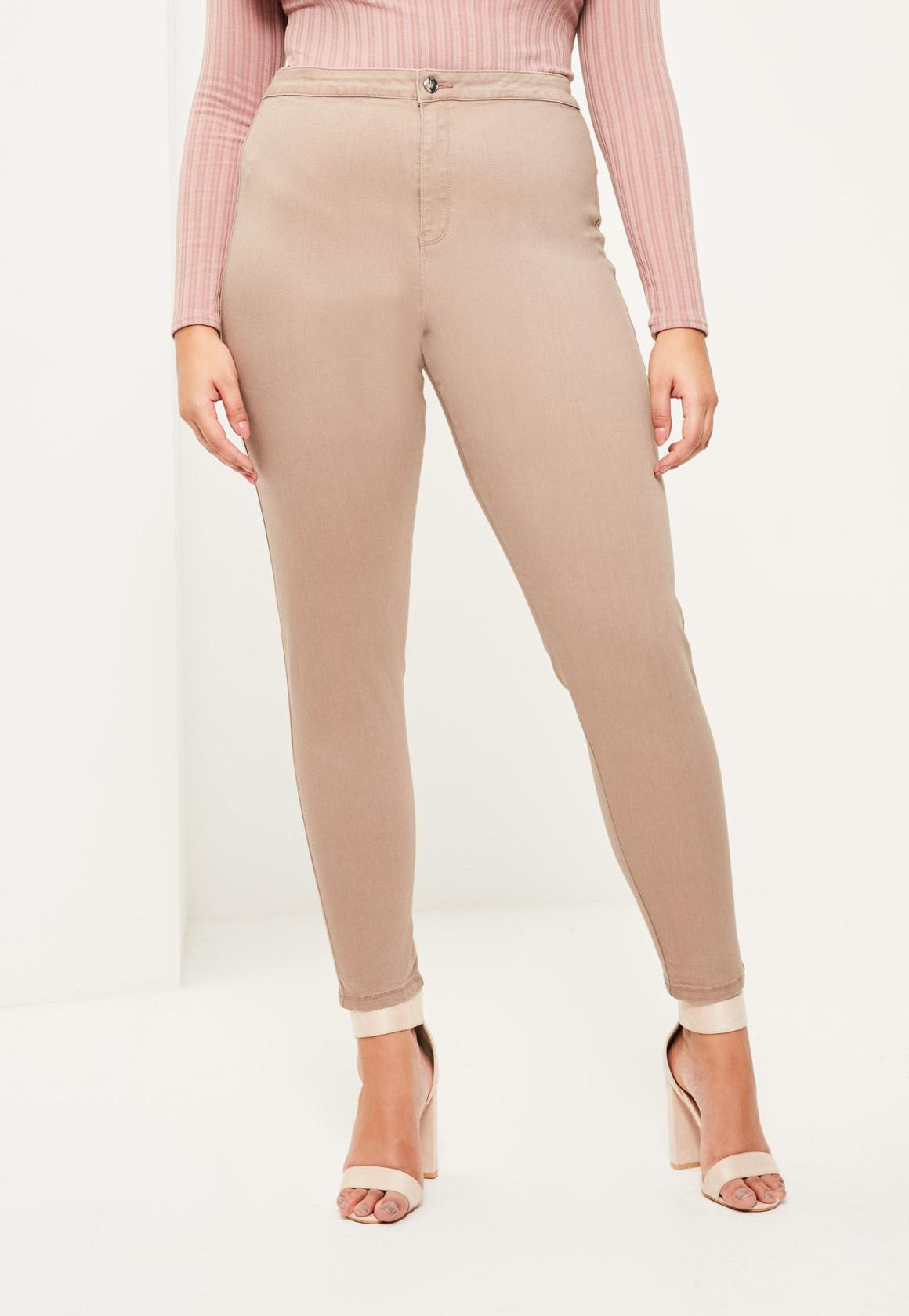 21ef6c7f547 Missguided - Plus Size Camel High Waisted Skinny Jeans