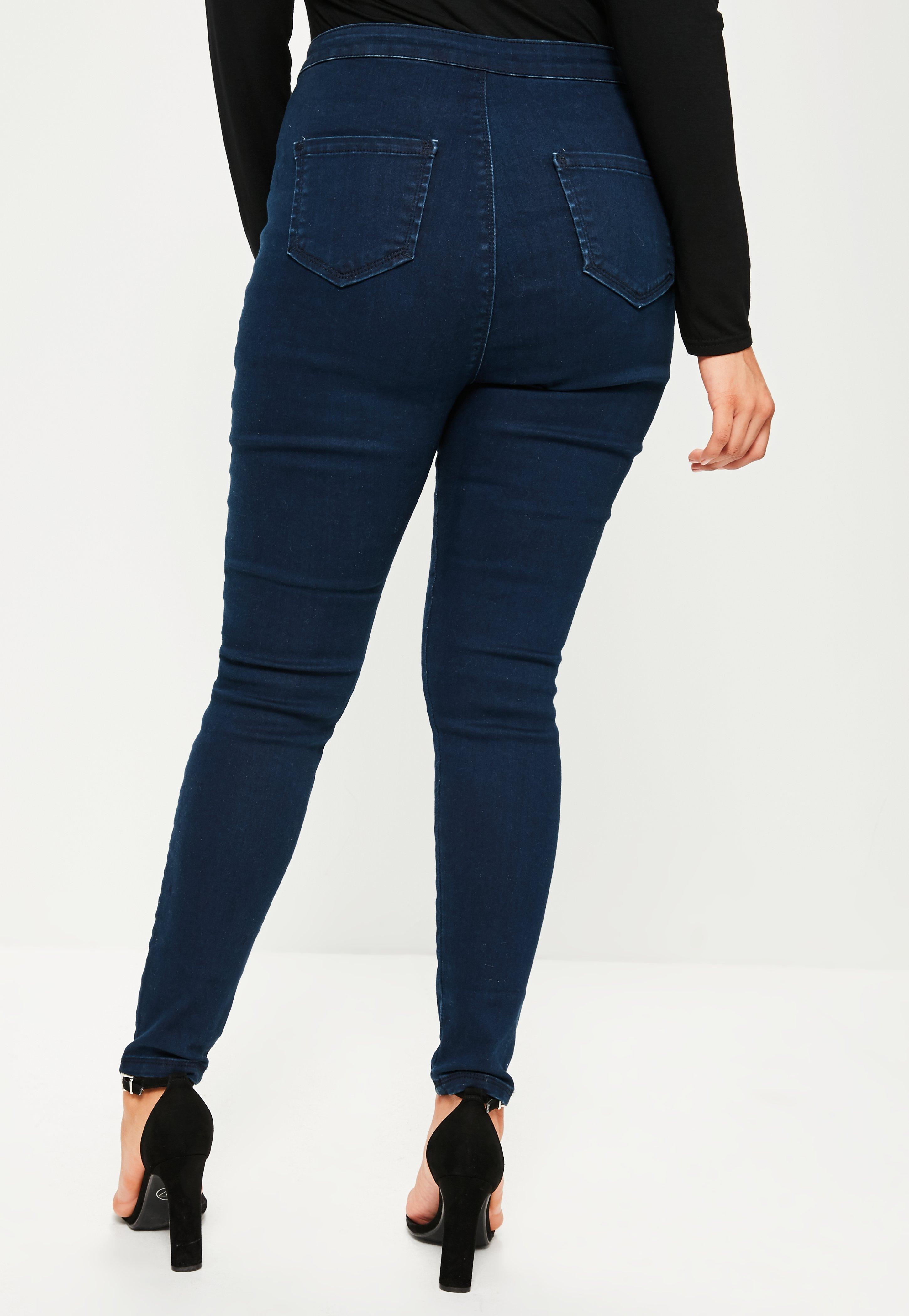 Plus Size Vice Navy High waisted Skinny Jeans