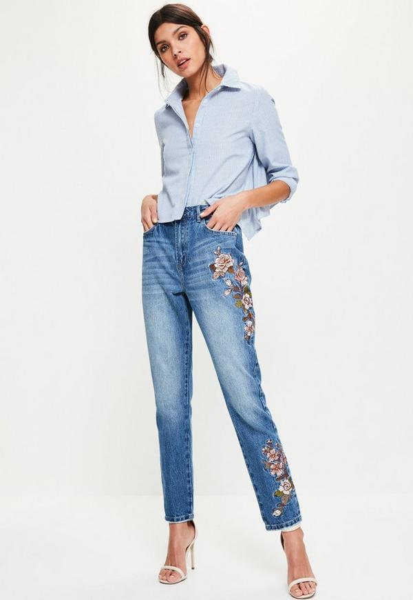 Blue Riot High Rise Floral Jeans