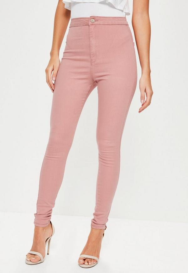 Pink Vice High Waisted Stretch Skinny Jeans | Missguided