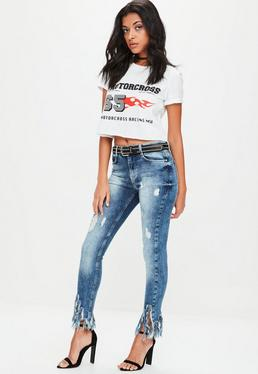 Blue Anarchy Mid Rise Skinny Jeans