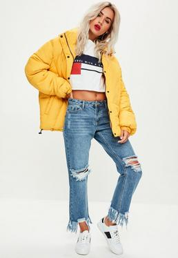 Blue Lust Deconstructed Ripped Boyfriend Jeans