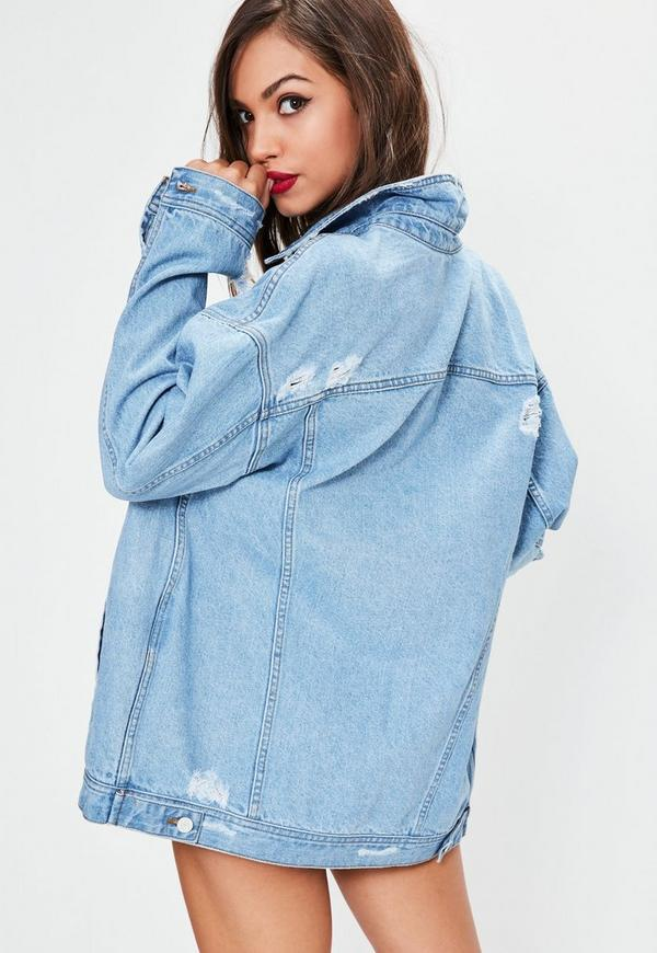 Oversized Boyfriend Fit Denim Jacket | Missguided