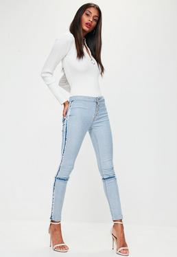Blue Anarchy Mid Rise Inside Out Denim Jeans