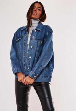 Niebieska jeansowa owersajzowa kurtka