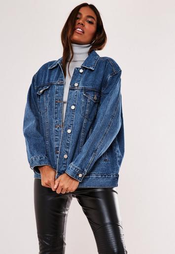 nouvelle arrivee bf31b 4d29b Missguided - Veste en jean bleue oversize