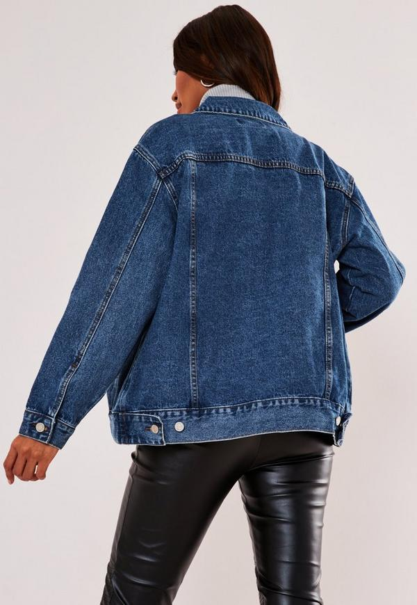 007f031972152 Blue Oversized Denim Jacket. Previous Next