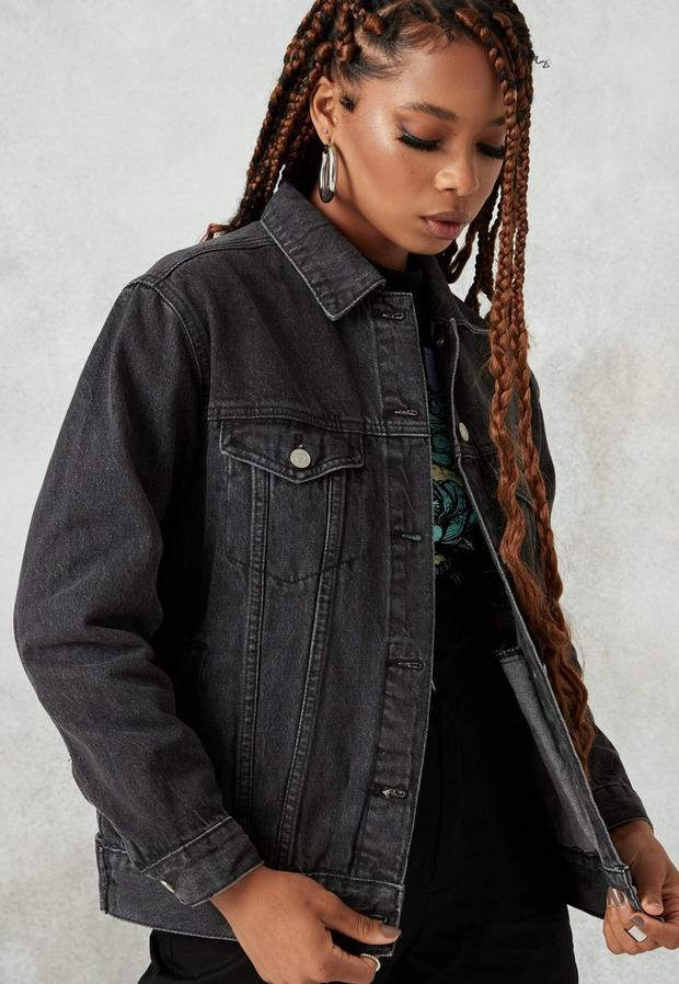 Missguided - Washed Oversized Co Ord Denim Jacket - 2
