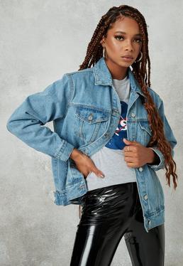Niebieska jeansowa owersajzowa katana