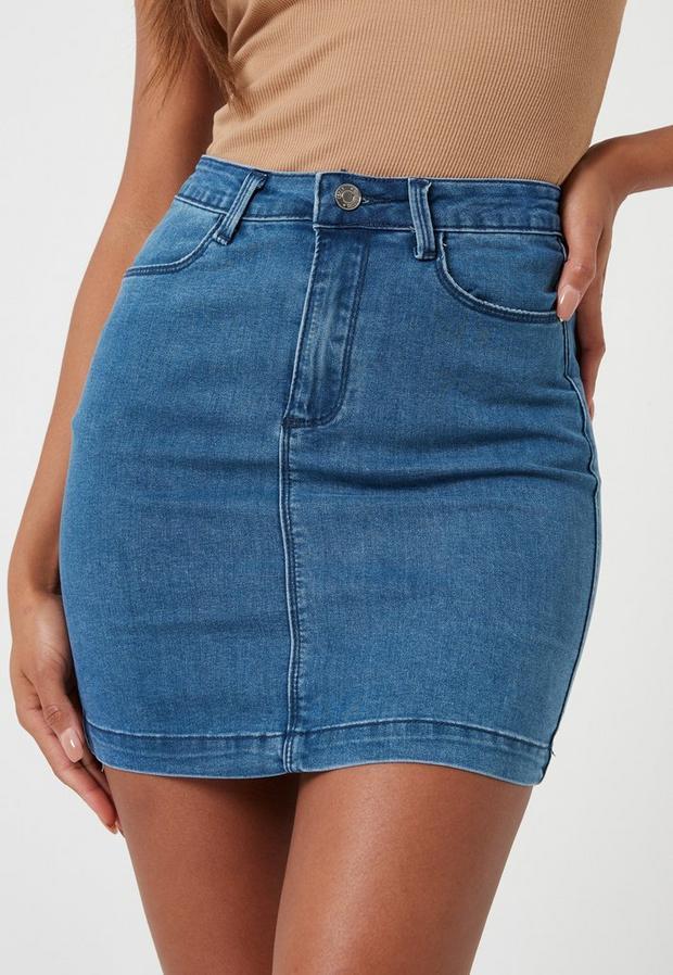 Missguided - Superstretch Stonewash Denim Mini Skirt - 3