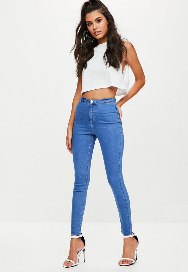 Blue Vice High Waisted Skinny Jeans | Missguided