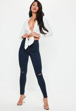 Blue Vice High Waisted Skinny Jeans