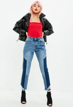 Blue Wrath Contrast Straight Leg Jeans