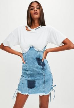 Londunn + Missguided Blue Denim High Waist Denim Skirt