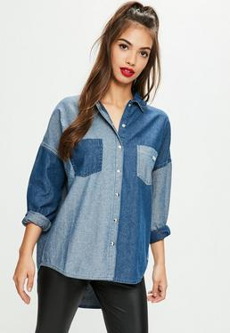 Blue Contrast Denim Shirt