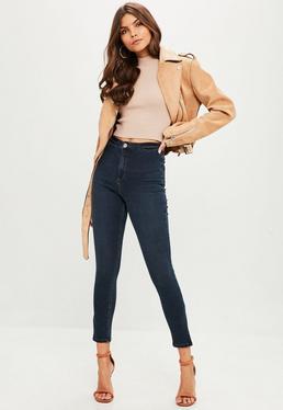 Navy Vice Side Split Jean