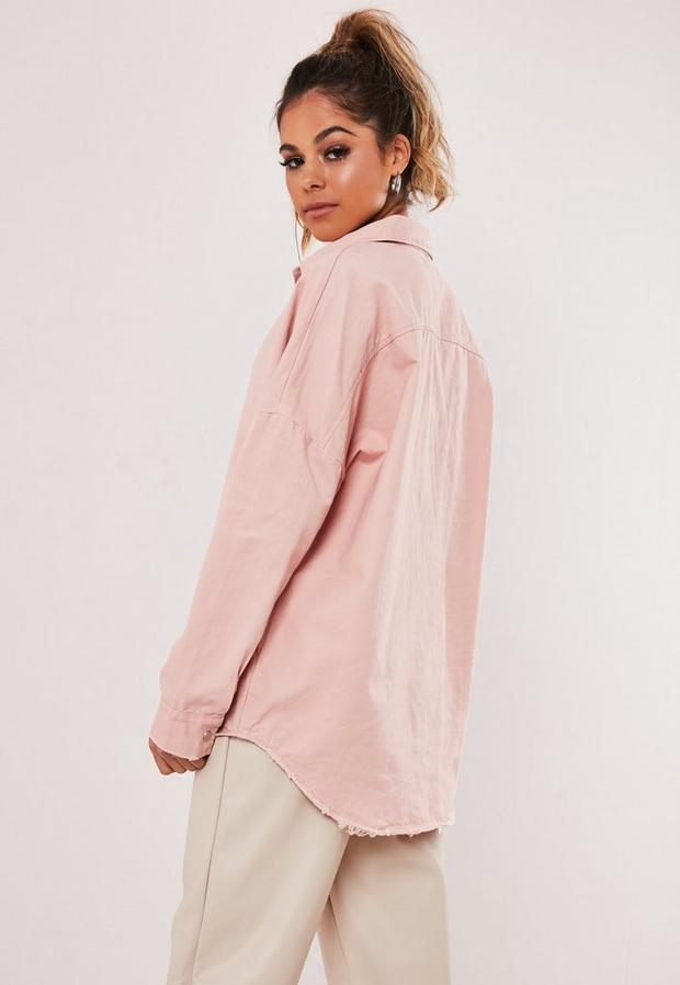 Missguided - Oversized Washed Denim Shirt - 4