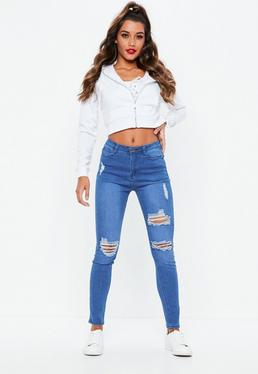 Blue Sinner Authentic Ripped Skinny Jeans