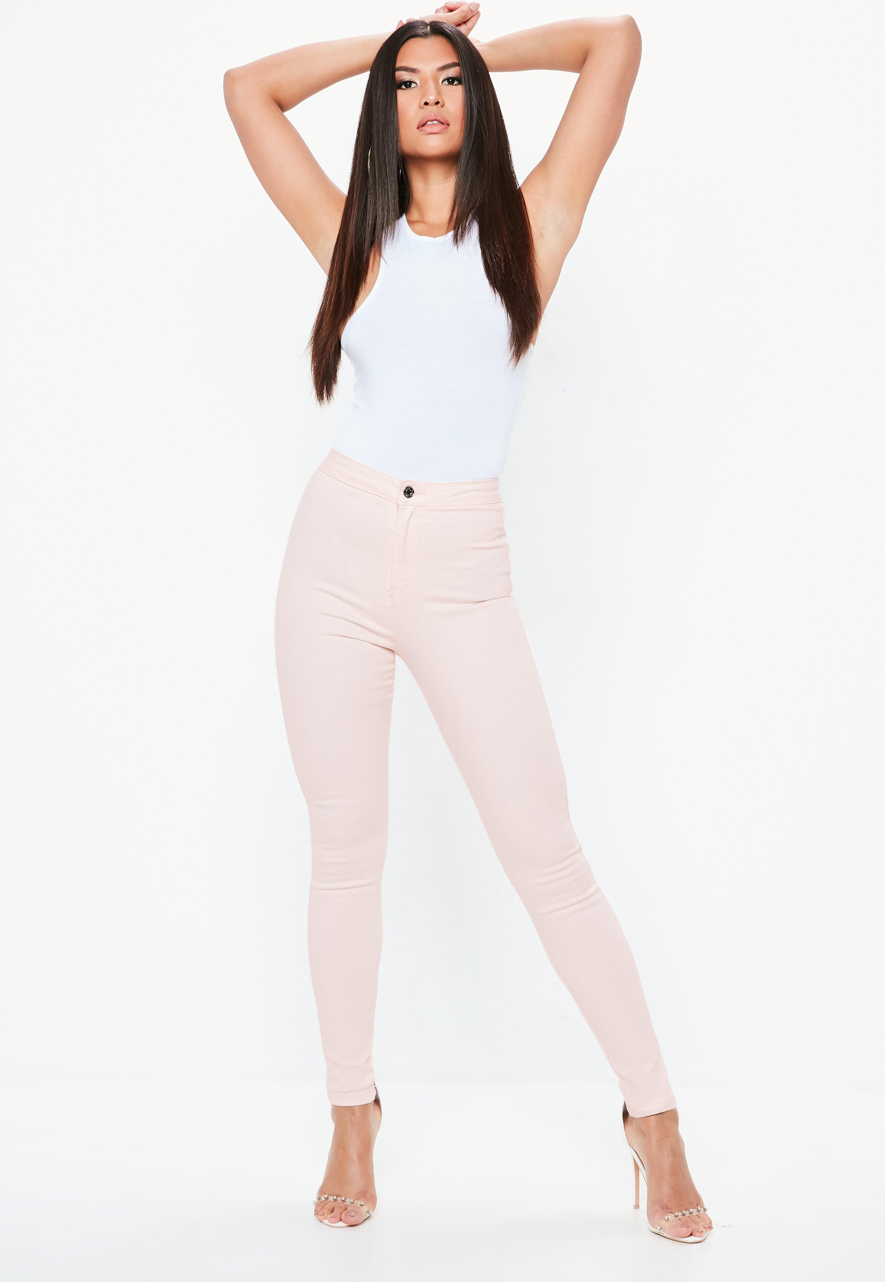 Waisted Pink Vice By Skinny Missguided Jeans High Light Shoptagr qwI50E6a