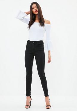 Czarne dopasowane jeansy Sinner