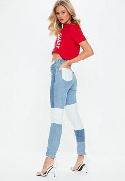 Niebieskie jeansy Riot Mom